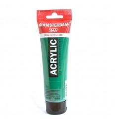 Акриловая краска AMSTERDAM ROYAL TALENS туба 120мл, цвет №619 Зеленый темный устойчивый