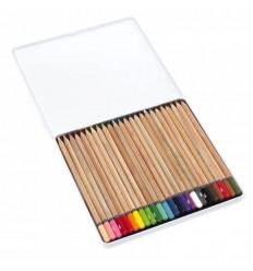 Набор цветных карандашей Bruynzeel Expression Colour, 24 цвета, в металлической коробке