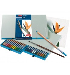 Набор цветных акварельных карандашей Bruynzeel DESIGN, 24 цвета, кисть, в подарочной упаковке