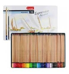 Набор цветных акварельных карандашей Bruynzeel Expression Aquarel, 36 цветов, кисть, в метал. коробке