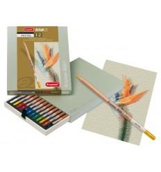 Набор цветных пастельных карандашей Bruynzeel DESIGN, 12 цветов, в подарочном пенале