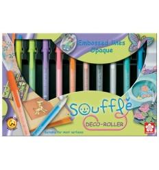 Набор гелевых ручек SAKURA Gelly Roll Souffle, 10 матовых цветов в картонной коробке