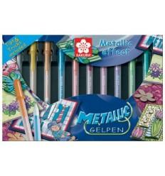 Набор гелевых ручек SAKURA Gelly Roll Metallic, 10 перламутровых цветов в картонной коробке