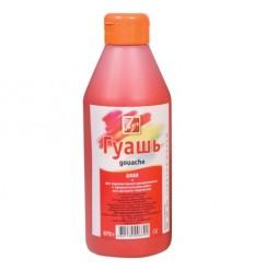 Гуашь художественная ЛУЧ, 500мл (670г), пластиковая бутылка с дозатором, Алая