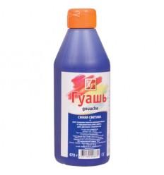 Гуашь художественная ЛУЧ, 500мл (670г), пластиковая бутылка с дозатором, Синяя светлая