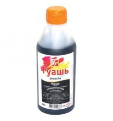 Гуашь художественная ЛУЧ, 500мл (620г), пластиковая бутылка с дозатором, Черная