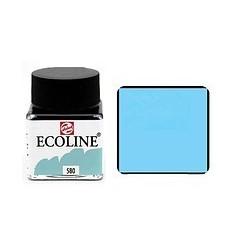 Акварель жидкая Ecoline Royal Talens, банка 30мл., Цвет № 580 Пастельный голубой