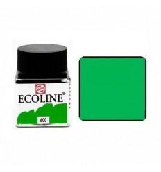 Акварель жидкая Ecoline Royal Talens, банка 30мл., Цвет № 600 Зеленый