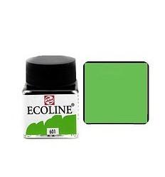 Акварель жидкая Ecoline Royal Talens, банка 30мл., Цвет № 601 Светло-зеленый