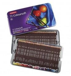 Набор цветных карандашей Derwent COLOURSOFT 72 цвета, в металлической коробке