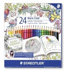 Набор цветных карандашей STAEDTLER Noris Club Johanna Basford, 24 цвета