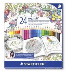 Набор цветных карандашей STAEDTLER Ergosoft Johanna Basford, 24 цвета