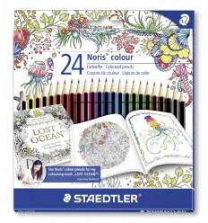 Набор цветных карандашей STAEDTLER Wopex Noris Colour Johanna Basford, 24 цвета