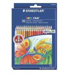Набор цветных шестигранных карандашей STAEDTLER Noris Club, 36 цветов