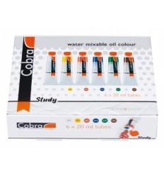 Набор водорастворимых масляных красок COBRA Study Royal Talens, 6 туб по 20мл
