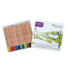 Набор акварельных карандашей Academy DERWENT 24 цвета в металлической коробке