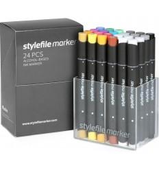 Набор маркеров STYLEFILE 24шт. основные цвета A