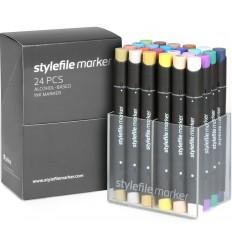 Набор маркеров STYLEFILE 24шт. основные цвета B