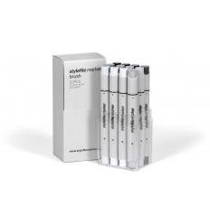 Набор маркеров кисти STYLEFILE BRUSH 12шт. оттенки серый нетральный