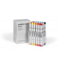 Набор маркеров кисти STYLEFILE BRUSH 24шт. основные цвета A