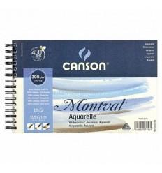 Альбом для акварели CANSON Montval FIN 13.5*21см, 300гр. 12л., среднее зерно, спираль