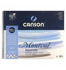 Альбом для акварели CANSON Montval FIN 36*48см, 300гр. 12л., среднее зерно, склейка