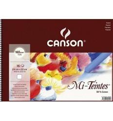 Альбом для пастели CANSON Mi-Teintes 24*32см, 160гр. 16л., бумага белая, спираль