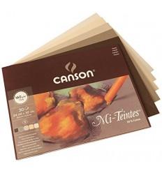 Альбом для пастели CANSON Mi-Teintes 24*32см, 160гр. 30л., 5 коричневых цветов, склейка