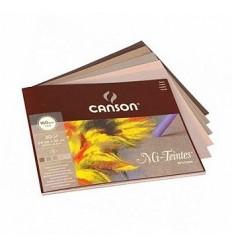 Альбом для пастели CANSON Mi-Teintes 24*32см, 160гр. 30л., 5 серых цветов, склейка