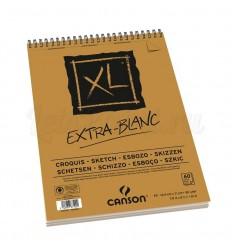 Альбом для пастели CANSON Xl 14.8*21см, 90гр. 60л., бумага Экстра белая, спираль