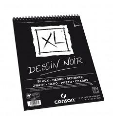 Альбом для графики CANSON Xl Dessin Noir BLACK А4 21*29.7см, 150гр. 40л., бумага черная, спираль