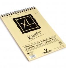 Альбом для графики CANSON Xl Kraft А4 21*29.7см, 90гр. 60л., крафт бумага, спираль