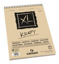 Альбом для графики CANSON Xl Kraft А3 29.7см*42см, 90гр. 60л., крафт бумага, спираль