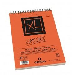 Альбом для графики CANSON Xl Croquis А5 14.8*21см, 90гр. 60л., бумага слоновая кость мелкозернистая, спираль