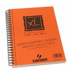 Альбом для графики CANSON Xl Croquis А5 14.8*21см, 90гр. 60л., слоновая кость мелкое зерно, спираль по длин. стороне