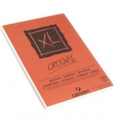 Альбом для графики CANSON Xl Croquis А4 21*29.7см, 90гр. 100л., бумага слоновая кость мелкозернистая, склейка