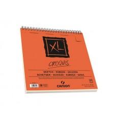 Альбом для графики CANSON Xl Croquis 30*30см, 90гр. 120л., бумага слоновая кость мелкозернистая, спираль