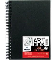 Скетчбук для зарисовок CANSON ONE А6 10.2*15.2см, 100гр. 80л., твердая обложка, спираль