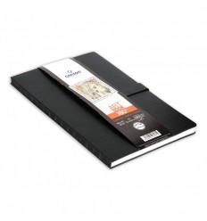 Скетчбук CANSON ART BOOK 180° 8.9*14см, 96гр. 80л., твердая обложка, магнитная застежка