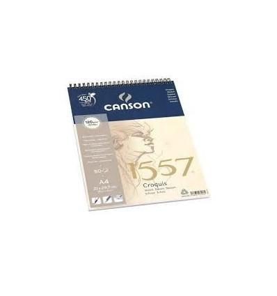 Альбом для графики CANSON 1557 А4 21*29.7см, 120гр. 50л., бумага малое зерно, спираль