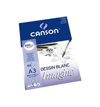 Альбом для графики CANSON Imagine А3 29.7*42см, 200гр. 50л., бумага мелкое зерно, склейка