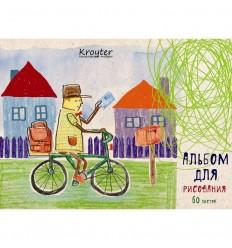 Альбом для рисования Kroyter Город Почтальон, А5, 60л., 100гр, спираль