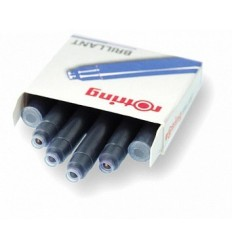 Бриллиантовые чернила для ручек ROTRING ArtPen, 6 картриджей, синие