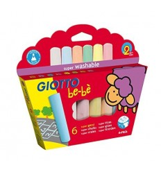 Набор цветных мелков GIOTTO BE-BE 467300 Super Chalks, 25 мм, 6 цветов