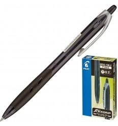 Ручка шариковая масляная автоматическая Pilot BPRG-10R-F Rex Grip (0.32 мм) черная