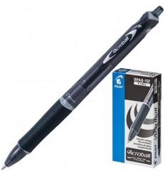 Ручка шариковая масляная автоматическая Pilot Acroball BPAB-15F (0.28 мм) черная