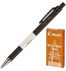 Ручка шариковая масляная автоматическая Pilot BPRK-10M (0.32мм) черная