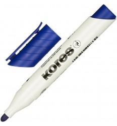 Маркер для досок Kores 20833, круглый наконечник 3мм, синий
