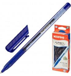 Ручка шариковая Kores К2 с резиновой манжеткой, 0.5 мм, синяя