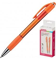 Шариковая ручка автоматическая Attache Happy 0,5 мм, оранжевый корпус, синяя